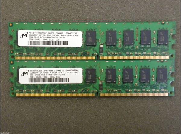 Server memory 4GB (2x 2GB) DDR2 ECC 800MHz 2GB 2Rx8 PC2-6400E Workstation RAM for ibm X3350 X3100 X3200M2 X3250M2 X3200X100 X206M X306M X31