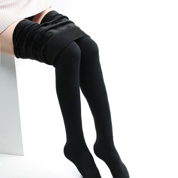 Winter Leggings Women's Warm High Waist Thick Velvet Legging Fashion Solid Leggins Women Knitted Thick Slim Leggings Super Elastic