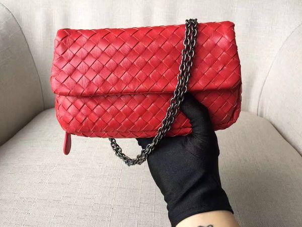 Women fashion tote shoulder messenger bag pu leather good quality lady handbag with chain strap