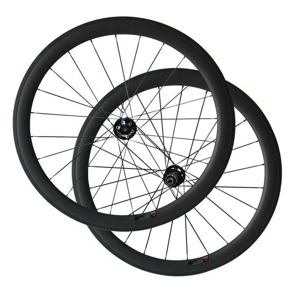 New 6 Bolt Disc Brake 50mm Clincher Cyclocross Bike wheelset 23mm Width Carbon Bike Wheels Thru Axle or Standard Quick Release