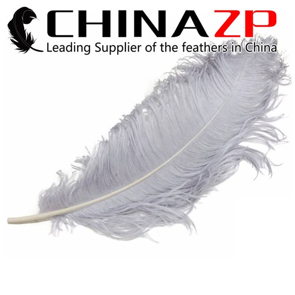 Made in CHINAZP Factory 45~50cm(18~20inch) Length Selected Prime Quality Dyed Silver Ostrich Feather Wedding Centerpieces