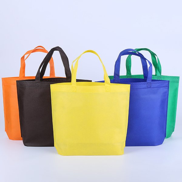 best selling Wholesale Foldable Shopping Bags Reusable Eco-Friendly Non-woven Bags Convenient Grocery Bag S M L Size DHL Or UPS Shipping