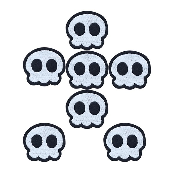 10pcs Cute skull badges patches for clothing iron embroidered patch applique iron sew on patches sewing accessories for clothes