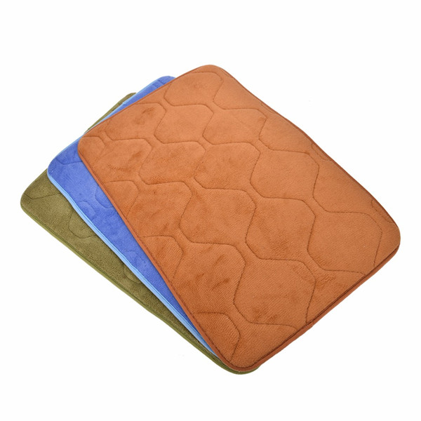 Venda por atacado - 40cmx60cm 1PC absorvente de espuma de memória de tapete de banheiro antiderrapante tapete de cozinha tapete de veludo coral de banho tapete de banho tapete de pelúcia