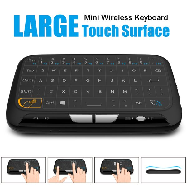 H18 Mini Wireless Keyboard 2.4GHz Portable Keyboard With Touchpad Mouse for Windows Android/Google/Smart TV Linux Windows Mac