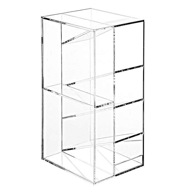 Hot sell modern Clear Acrylic Office Desktop Letter Mail Sorter / Pen and Pencil Holder / Home Organizer box