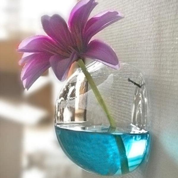 Nuovo creativo semicircolare appeso a parete vaso di fiori vaso idroponico Fish Tank Home decorazione di nozze