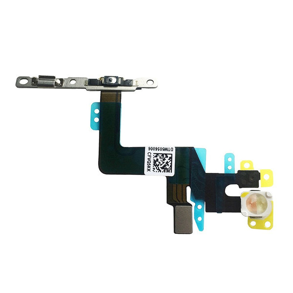 Joemel for Iphone 6s plus 5.5 Power Button On / Off Switch Flash Light Mic Flex Cable Replacment Part with Brackets Pre-installed Part