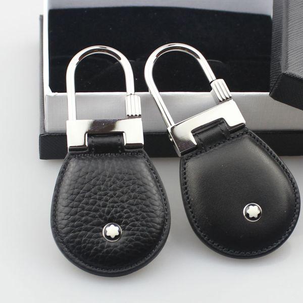Gli uomini di lusso gioielli in acciaio inox moda in vera pelle portachiavi design portachiavi di alta qualità per gli uomini regalo degli uomini con la scatola