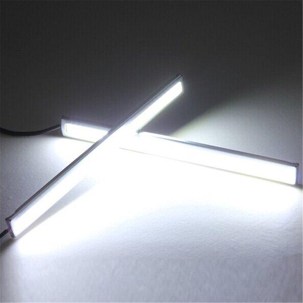 Tüketici Elektroniği 2 Adet Beyaz Işık Parlak 12 V Su Geçirmez COB Araba LED Sis Sürüş Fren Lambası M00059 VPRD