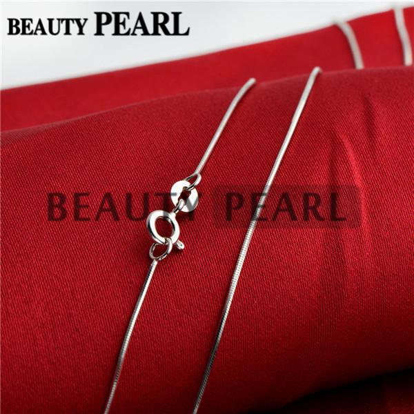 Sterling Silver DIY Jewelry Necklace Collar 0.7mm 925 Sterling Silver Snake Chain Wholesale 5 Pieces