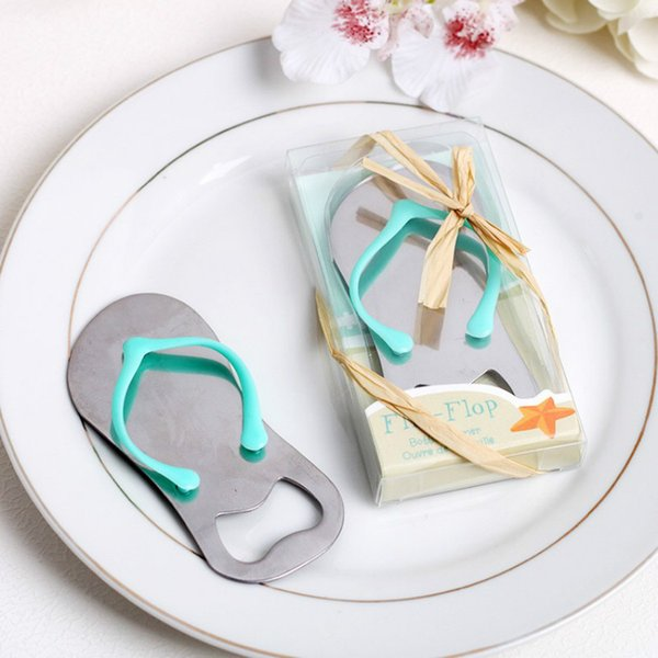 10PC Free Shipping Creative Novelty Flip Flops Bottle Opener Wedding Favors Gifts for Guest Baby Shower Souvenir