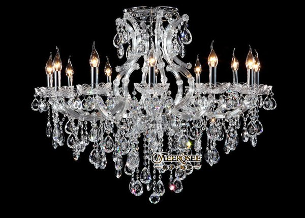 New Design Candle Chandelier Crystal Lighting Fixture Maria Theresa incandescent luminaire lustres pendentes Hotel, Meeting