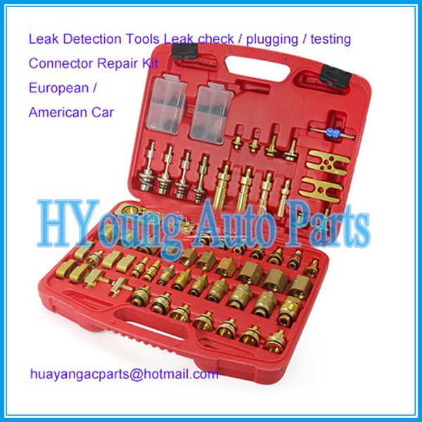 best selling auto air conditioning Leak Detection Tools Leak check   plugging   testing Connector Repair Kit for European American Car
