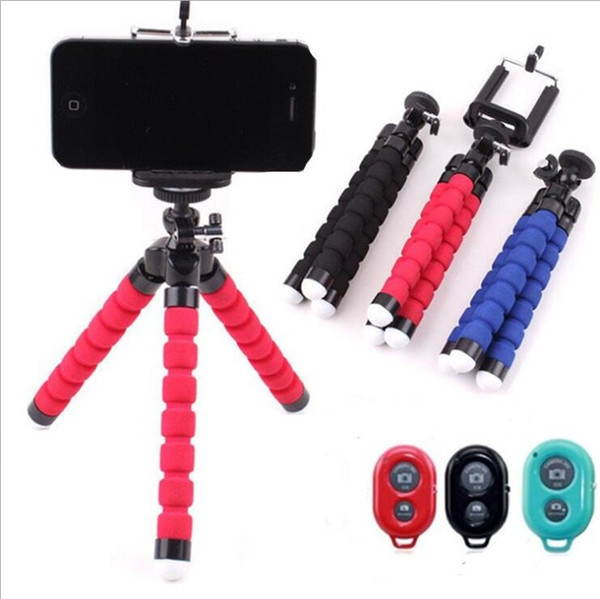 Tripod Phone Holder Universal Stand Bracket For Cell Phone Car Camera Selfie Monopod with Bluetooth Remote Shutter