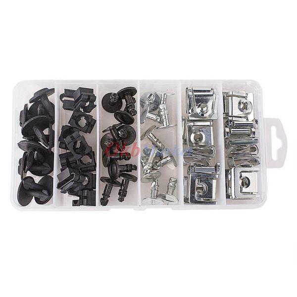 Kit de hardware de la cacerola de protección del motor 60pcs Pin Pin Clip para Audi A4 A6 VW Passat