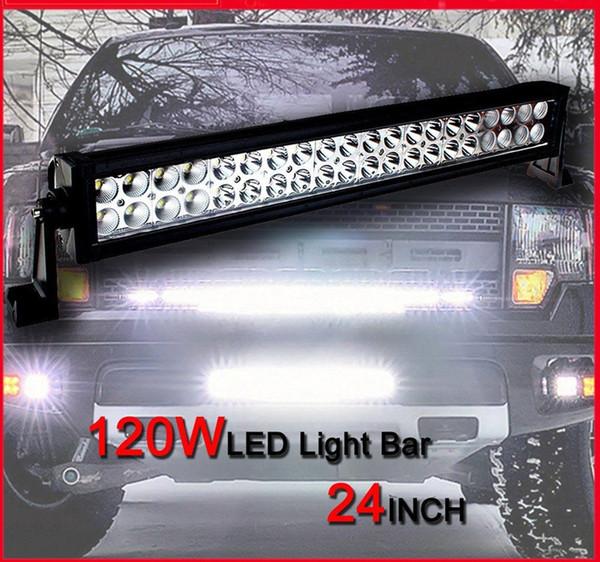 24 inch 120W Car LED Work Working Light Bar Spot Flood Combo Beam 12V 24V For Truck Tractor Trailer ATV UTV 4X4 SUV Boat 4WD Waterproof IP67