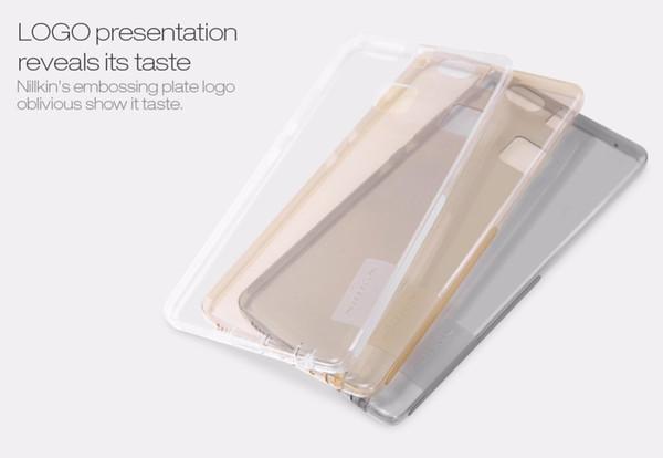 Toptan-Nillkin huawei p9 durumda (5.2 inç) doğa Şeffaf şeffaf Yumuşak silikon TPU Koruyucu kılıf kapak için ücretsiz nakliye huawei
