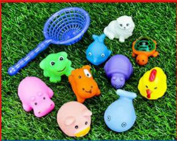 11pc / lot mini Baby toys baby nuoto anatra bagnata Water duck giocattolo per bambini giocattolo genitore-bambino giocattolo di comunicazione