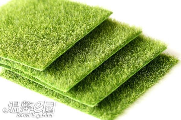 9pcs Micro Landscape Decoration DIY Simulation Plants Artificial Green Grass Mat Turf Lawn Garden Moss For Floor Decor