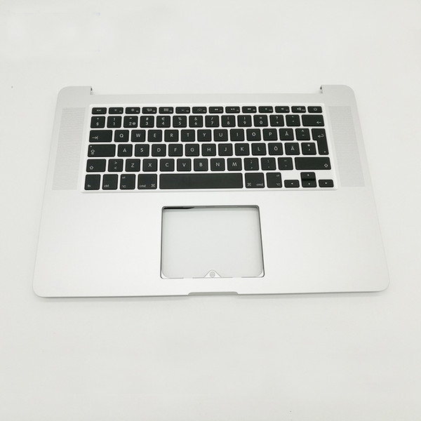 New For Macbook Pro Retina 15'' A1398 Sweden Top Case Keyboard Swedish Keyboard 2015 2016 Replacement