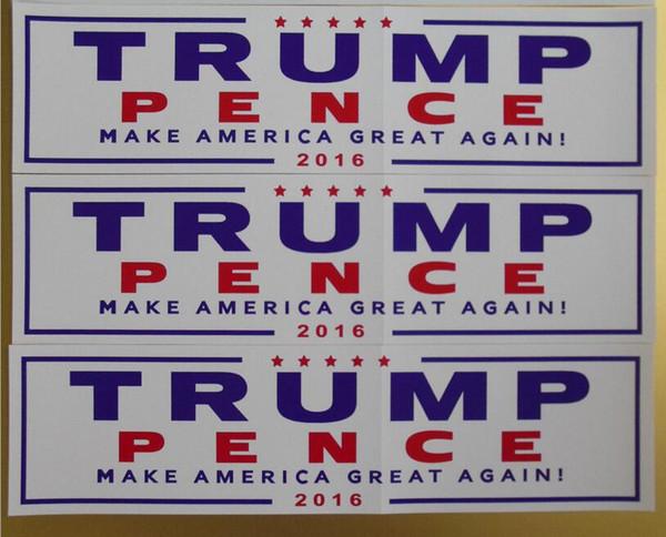 New Design Car Decals Donald Trump for President Make America Great Again Bumper Sticker Exterior Accessories 2 Color 76*229mm