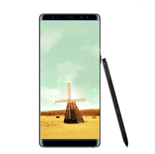 Goophone note8 fingerprint note 8 6.3inch Cellphone MTK6580 Quad Core 1G 8GB 1280*720 Show 64G rom fake 4g lte unlocked smartphone