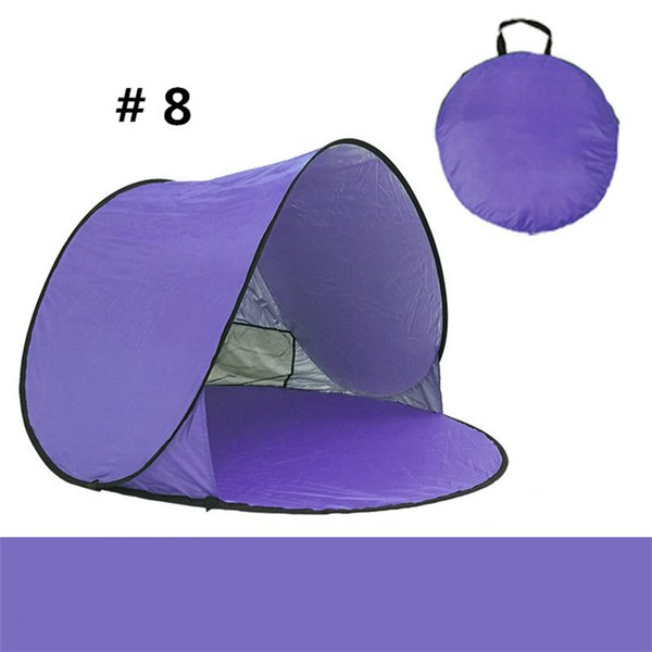 DHK/Fedex Quick Automatic Opening Hiking Tents Outdoors Camping Shelters 50+ UV Protection Tent Beach Travel Lawn Home 10 PCS Multicolor