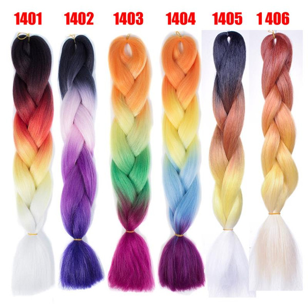 Jumbo braids Xpression Brading Hair purple colors crochet braids three tone color syntheitc hair Extension marley for black women