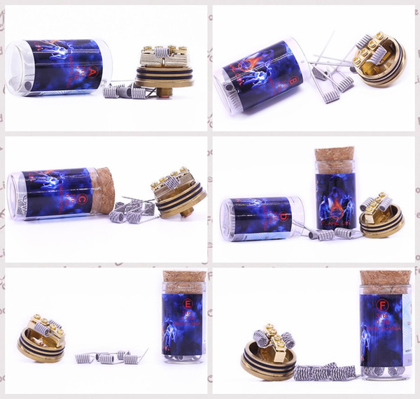 100% Authentic Demon Killer Flame Coil Prebuilt Wire 316L Pre-built Heating Premade Wires 6 Types Resistance For DIY Vape Atomizers RDA RBA