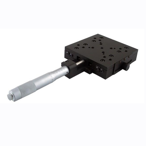 X Axis Manual Linear Stage Manual Displacement Station Manual Platform Optical Sliding Table 50mm Travel PT110-50-100H