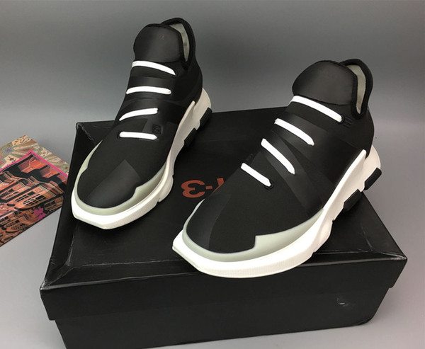 Y-3 NOCI 0003 BY2102 Black White Mens Running Shoes,2017 New Men's Y3 High Top Sneakers Boots Shoes Quality fine With Box
