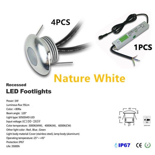 4pcs / set Nature White