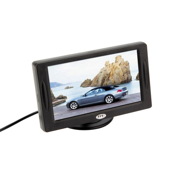 """top popular Classic Style 4.3"""" TFT LCD Rearview Car Monitors for DVD GPS Reverse Backup Camera Vehicle driving accessories 2021"""