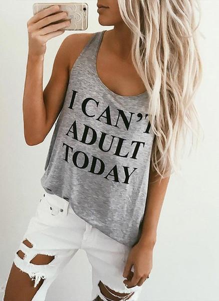 T-shirt casual girocollo in cotone con scollo rotondo senza maniche