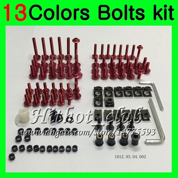 Kit completo de tornillos de carenado Para HONDA CBR600F3 95 96 97 98 98 CBR600 F3 CBR 600 F3 1995 1996 1997 1998 Tuercas de cuerpo tornillos tuercas kit de tornillos 13Colores