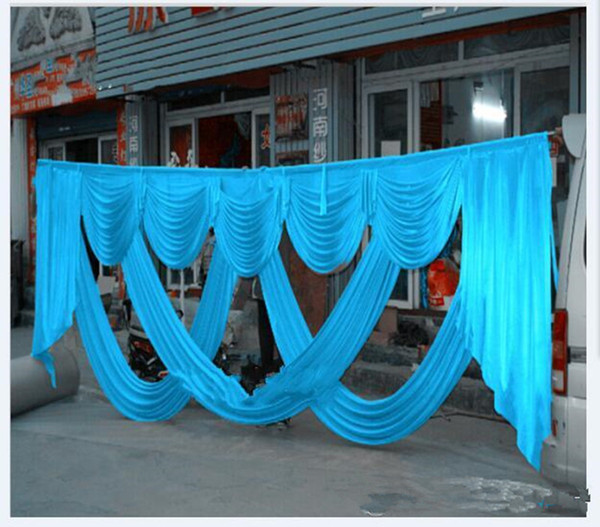 New Arrival Fashion 3 X 6 m Wedding Backdrop Centerpiece Swags Party Curtain Celebration Stage Backdrop Drapes Decoration Supplies