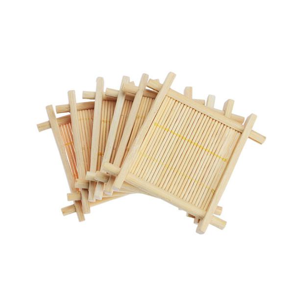 Nuevo Mini Taza de bambú hecha a mano Estera Kung Fu Accesorios de té Manteles de mesa Coaster Tazas de café Bebidas Producto de cocina Taza Almohadillas
