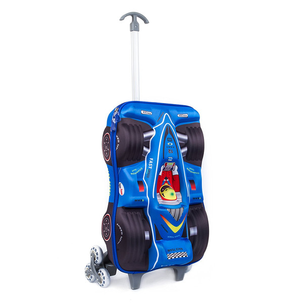 2017 Kids Suitcase,3d Car Racing Design Children Trolley Carry On ...
