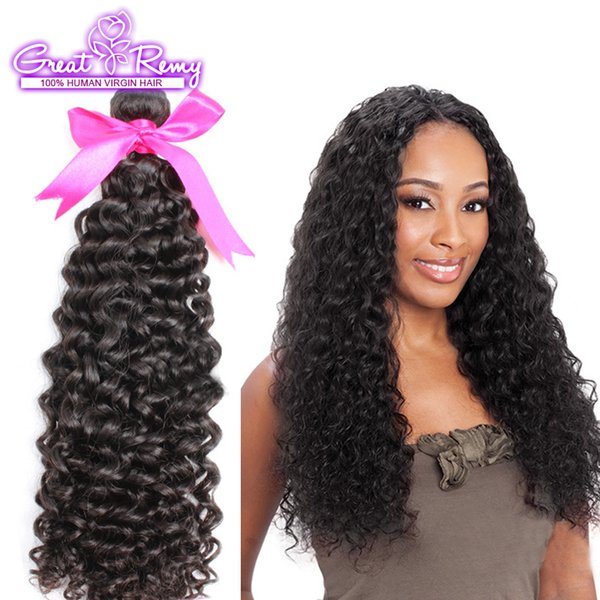 Retail 1pc 10A Double Drown Brazilian Peruvian Indian Virgin Human Hair Weave Bundles Top Malaysia Best Quality Deep Curly Wave Greatremy