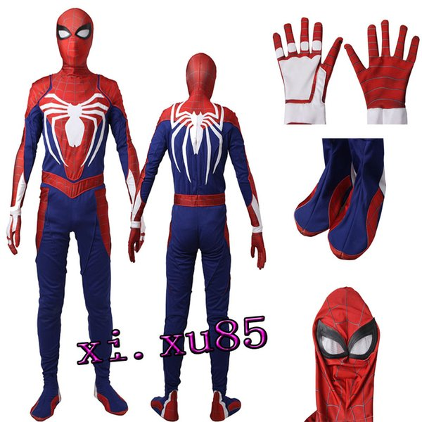 2017 Newest High-quality Raimi Peter Benjamin Parker Spider-Man Cosplay Costume Zentai Jumpsuit Customize Unisex Any Size Free Shipping