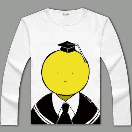 Assassination Classroom T shirt Quick dry design long sleeve Korosensei tees Anime clothing Men cotton Tshirt