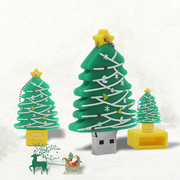 Heiße Verkäufe Schönes Geschenk Weihnachtsbaum 32 GB 16 GB 8 GB 4 GB USB 2.0 USB 2.0 Flash Drive Stift Stick Stick U Disk Pendrives