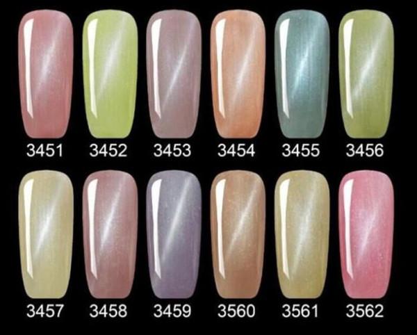 best selling 2017 New arrival Mei-charm 12 colors diamond cateye Nail Polish 15ml UV GEL POLISH soak off nail gel DHL 50pcs lot