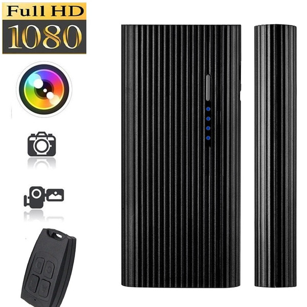 Remote control power bank camera Full HD 1080P Night vision Power Bank pinhole DVR Motion Detection Video Recorder home security camera