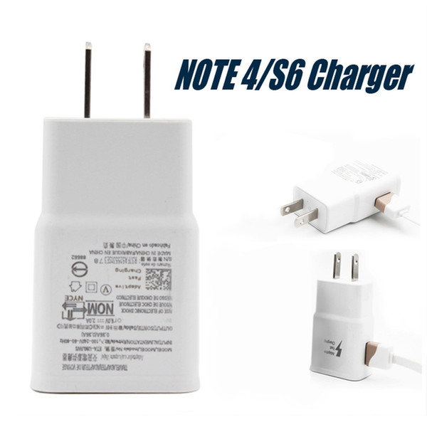 top popular High Quality Wall Charger For Samsung S6 Travel Adapter Fast Flash Plug Full 5V 2A IC High Quality Quick Speed Charger No Package 2019