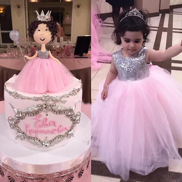 Großhandel Ziemlich Prinzessin Girl Pink Kleid Party Geburtstag ...