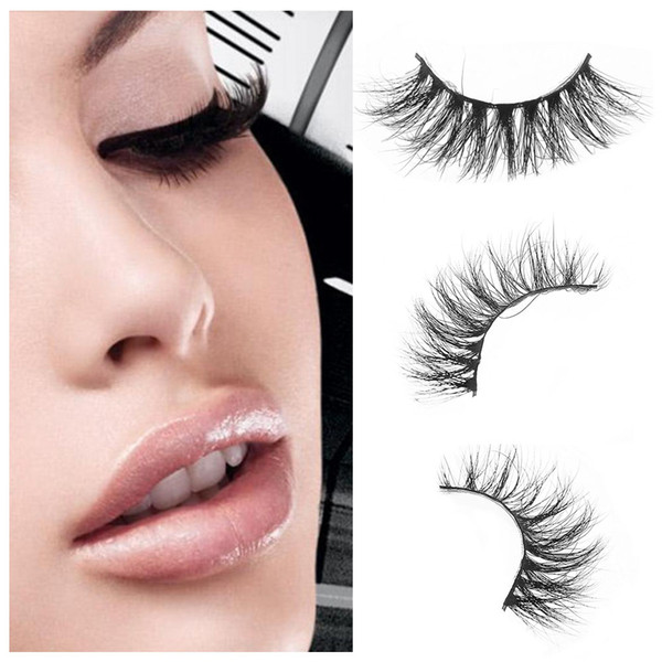 1Pair Hot Sale 1pairs Sexy Women100% Real 3D Mink Full Strip False Eyelash Long Individual Eyelashes Party Mink Lashes Extension