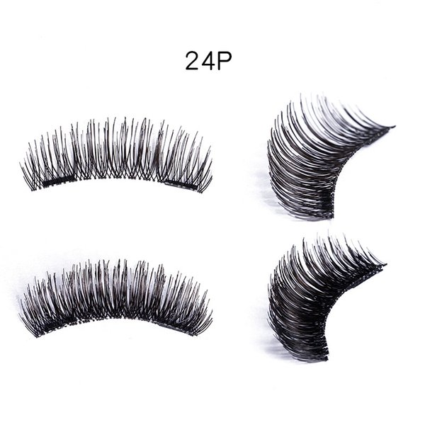 Double Magnetic Eyelashes Natural Beauty Reusable Fake Eye Lashes Extension Handmade Eye Beauty Makeup Tool