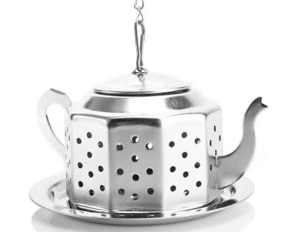 NEW Tea Infuser 3,8 CM Teekanne geformt 304 Edelstahl Kräutertee Tee-Infuser Schmutzfänger Filter 100 stücke Tee Ball
